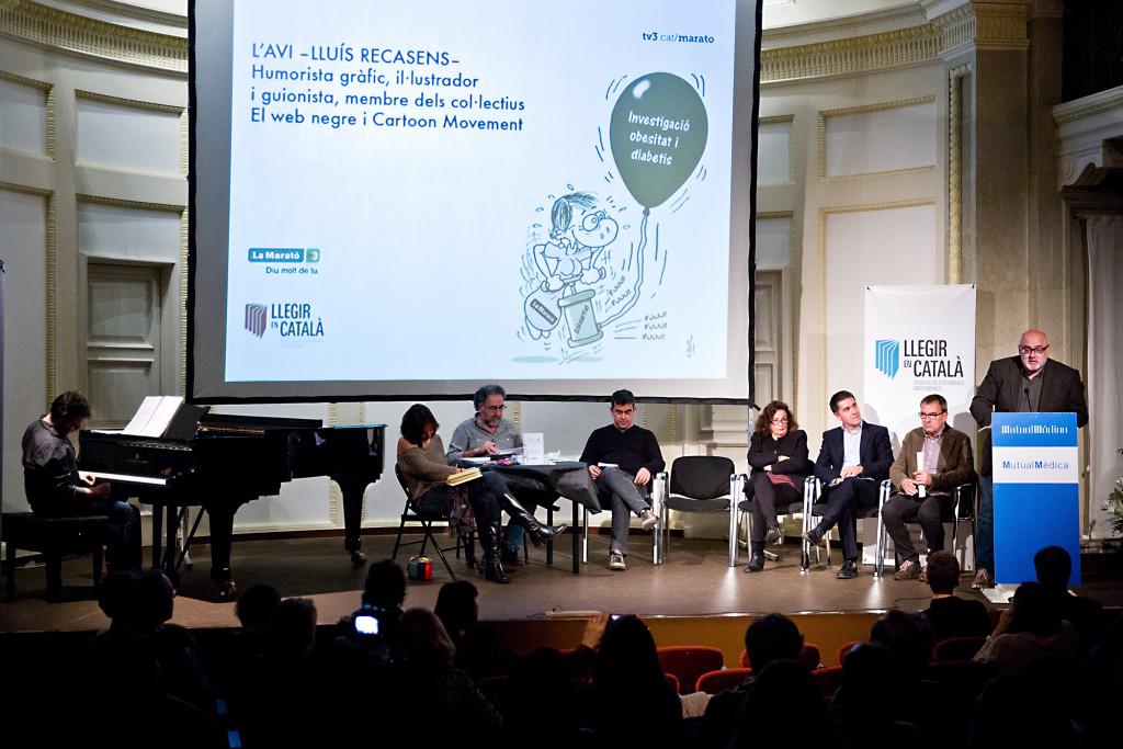 Presentació del llibre de la Marató TV3 2015, al Casal del Metge. Barcelona, 19.11.2915